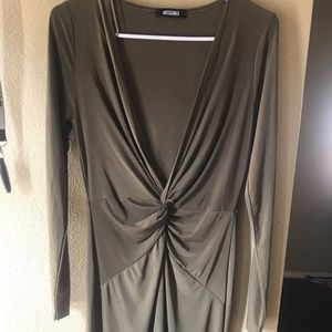 Missguided Olive green beautiful dress worn once